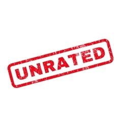 Unrated Rubber Stamp vector image