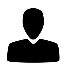 user icon black silhouette isolated on white vector image