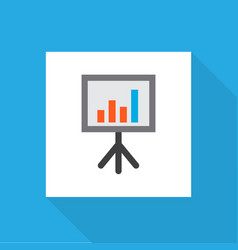 whiteboard icon flat symbol premium quality vector image