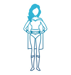 woman superhero cartoon vector image