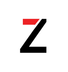 z letter logo z letter emblem design vector image