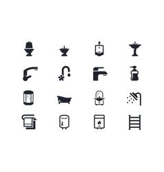 Plumbing icons Lyra series vector image vector image