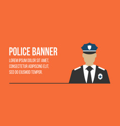 police logo and banner with officer vector image