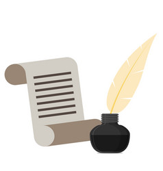 ink with pen flat icon vector image