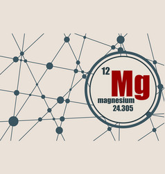 magnesium chemical element vector image vector image
