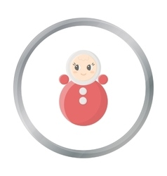 Roly Poly cartoon icon for web and vector image