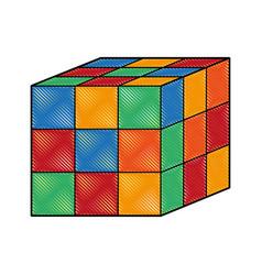 rubik cube puzzle vector image vector image