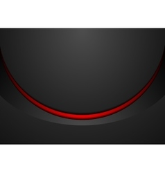 Black and red corporate wavy brochure design vector image