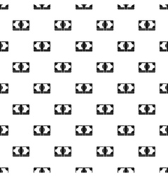 Bundle of money pattern simple style vector image