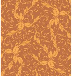 Classic foliage swirl seamless pattern vector image