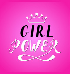 girl power lettering vector image vector image