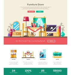 House interior store website header banner with vector image vector image