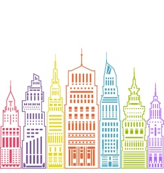 Modern Big City Linear Style vector image