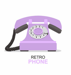 purple vintage telephone isolated on white vector image