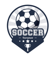 soccer sport tournament emblem image vector image
