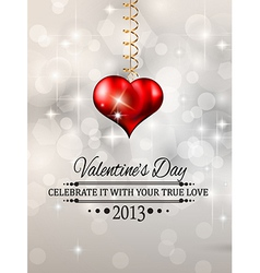 Elegant Valentines Day background vector image vector image