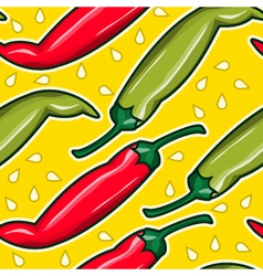 pepper seamless pattern color background vector image