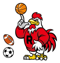 rooster mascot vector image vector image