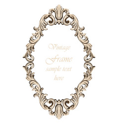 vintage baroque frame decor detailed ornament vector image