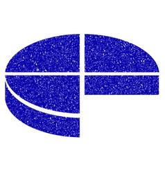 3d pie chart icon grunge watermark vector