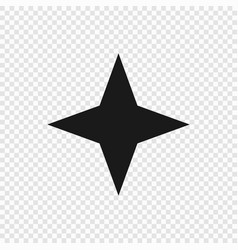 4 point classic star vector image