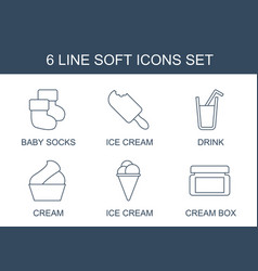 6 soft icons vector
