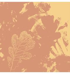 Autumn defoliation in the nature vector image