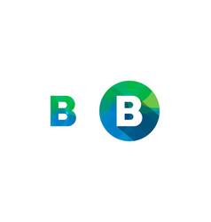 b letter pixel logo icon design vector image