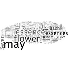 Bach flower essences and remedies seven vector
