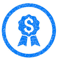 Banking award rounded grainy icon vector