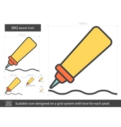 BBQ sauce line icon vector