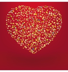 Beautiful colorful heart shape background EPS 8 vector image