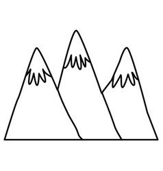 big mountains isolated vector image