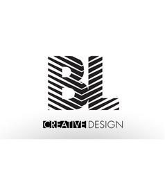 Bl b l lines letter design with creative elegant vector