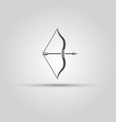 Bow and arrow isolated icon vector