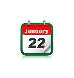 calendar icon for mobile application vector image
