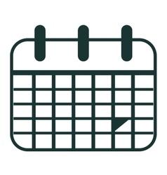 Calendar silhoutte planner design graphic vector