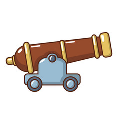 Cannon icon cartoon style vector
