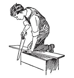 carpenter vintage vector image