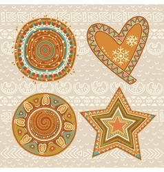 Christmas gingerbread collection vector image