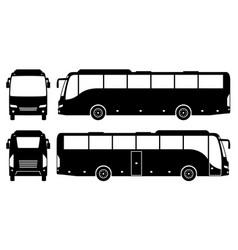 Coach bus black icons vector