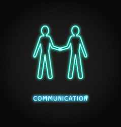 Communication concept neon icon in line style vector