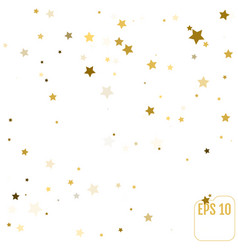Confetti cover from gold stars modern vignette vector