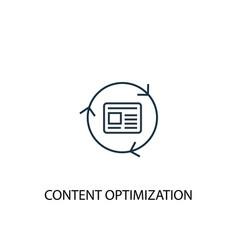 content optimization concept line icon simple vector image