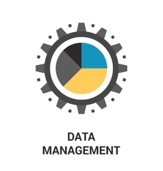 Data management icon vector