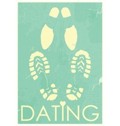 Dating Rendezvous of lovers Retro grunge poster vector image vector image