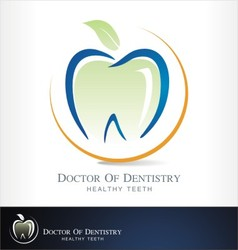 Dental clinic logo dentist vector