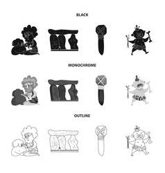 design of evolution and prehistory sign vector image