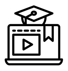 e-learning line icon home education vector image
