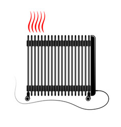 Electric oil heater on vector